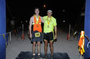 Mike with Dave at the Keys 100 finish line.